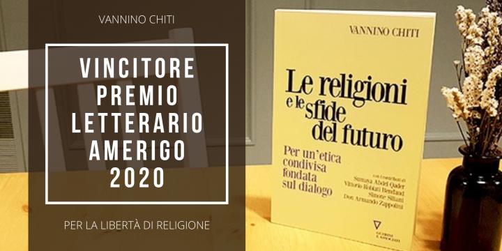"""Vannino Chiti, autore del saggio """"Le religioni e le sfide del futuro"""" vince il Premio Letterario """"Libertà di religione"""" 2020"""